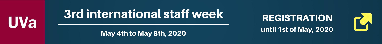 3rd international staff week - Universidad de Valladolid - Spain