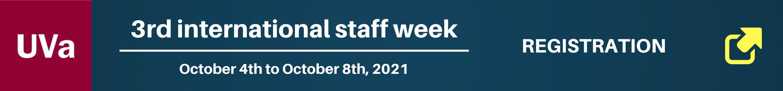 Banner 3rd International Staff Week - October 2021 - University of Valladolid - Spain