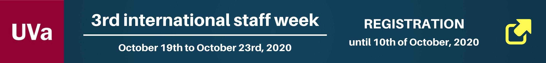 Banner 3rd International staff week - Universidad de Valladolid (Spain ) - October 2020