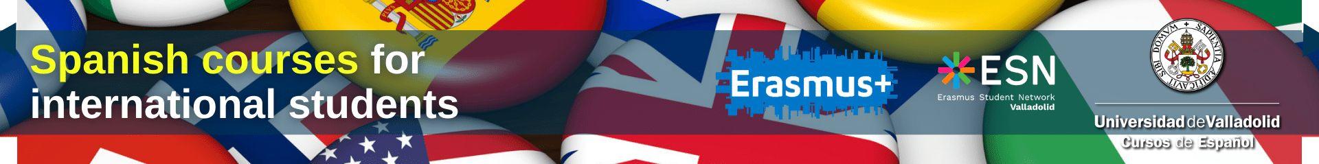 Banner Spanish Courses for international Erasmus students - University of Valladolid