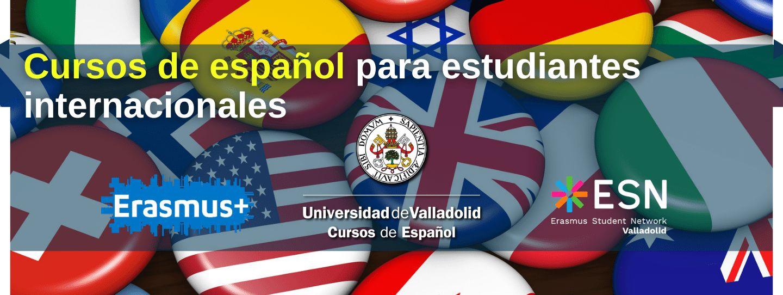 Banner cursos de español para estudiantes internacionales y Erasmus - Universidad de Valladolid - móvil